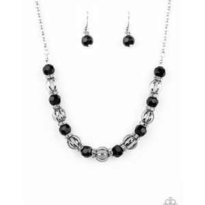 Metro Majestic Black Necklace and Earrings